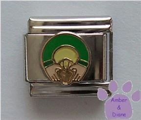 Irish Claddaugh Italian Charm for Love or Friendship Symbol