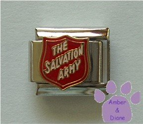 Salvation Army Shield Italian Charm