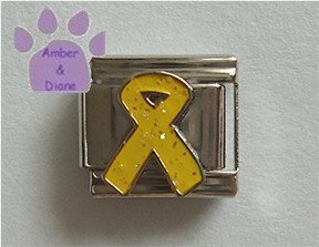 Yellow Ribbon Italian Charm Symbol for Hope