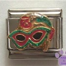 Mardi Gras Mask Italian Charm for a Masquerade Ball