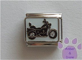 Motorcycle Italian Charm on white