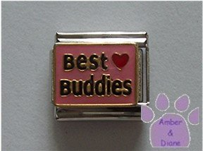 Best Buddies Italian Charm with a red heart