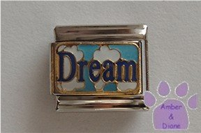 Dream set in Clouds in Sky Italian Charm *Dare to Dream*