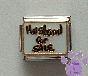 Husband for Sale Italian Charm on White