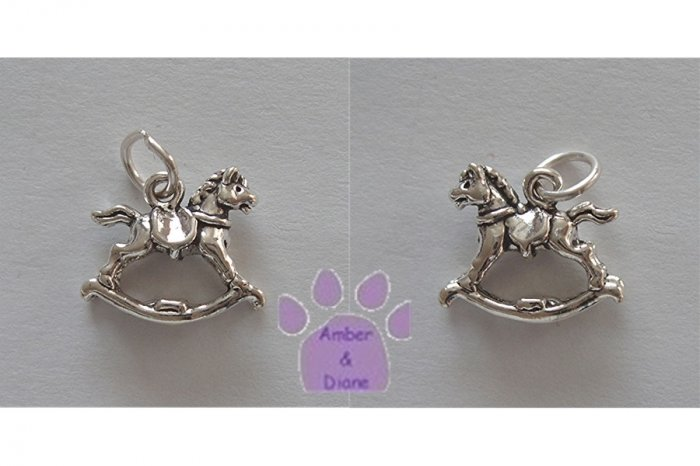 Rocking Horse Sterling Silver Pendant charm