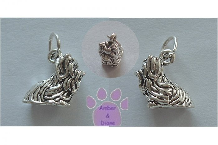 Yorkshire Terrier Sterling Silver Pendant - Yorkie charm