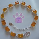 Honey Amber Sterling Silver Bracelet rectangular amber links