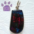 Dichroic Glass Sterling Silver Pendant purple, pink, blue, green