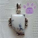 Dandretic Agate Sterling Silver Quarter-Oval Pendant