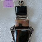 Jasper Sterling Silver Pendant three different jaspers
