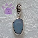 Opal Sterling Silver Pendant in a simple frame