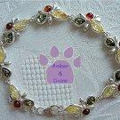 Baltic Amber Sterling Silver Bracelet Honey Green Lemon links