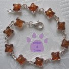 Baltic Amber Sterling Silver Bracelet Honey squares