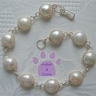 White River Pearl Sterling Silver Bracelet round links 7.5""