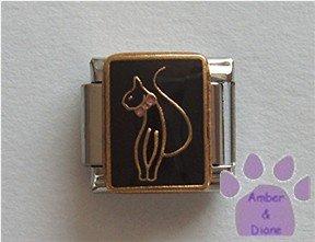 Baby Phat Cat Italian Charm symbol on black