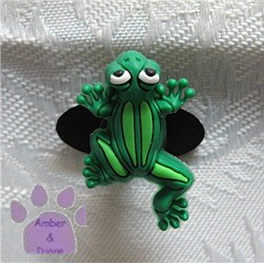 Green Frog Shoe Doodle Charm for Crocs