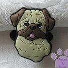 Pug Shoe Doodle Dog Charm for Crocs