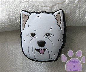 West Highland White Terrier Shoe Doodle Westie Dog Charm for Crocs