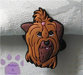 Yorkshire or Silky Terrier Shoe Doodle Yorkie Dog Charm for Crocs
