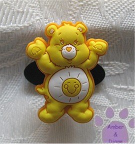 Funshine Bear Shoe Doodle Charm Carebears yellow Care Bears for Crocs