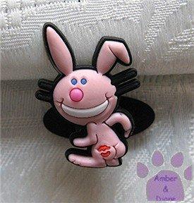 Happy Bunny Shoe Doodle Charm for Crocs - Kiss my ***