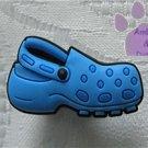 Blue Clog Shoe Doodle Shoe Charm for Crocs