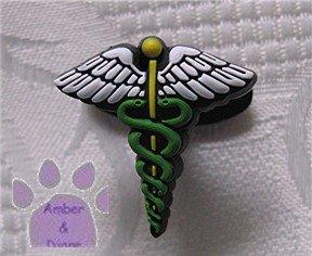 Medical Symbol Shoe Doodle Shoe Charm - Caduceus for Crocs