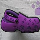Purple Clog Shoe Doodle Shoe Charm for Crocs