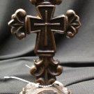 Decorative Ironwork Cross Figurine on Base