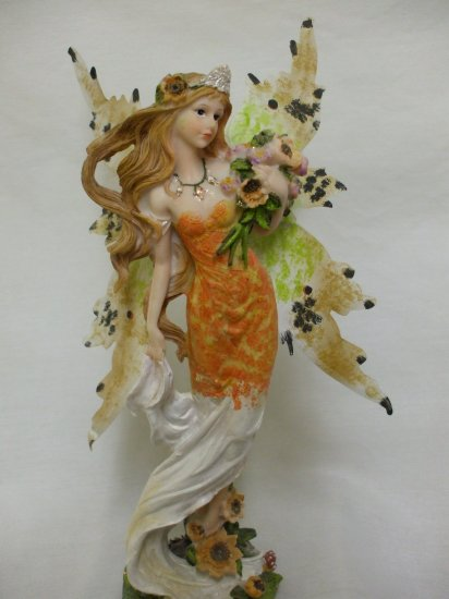 """14"""" Butterfly Wing Fairy From The Fairy Hollow Collection: Orange"""