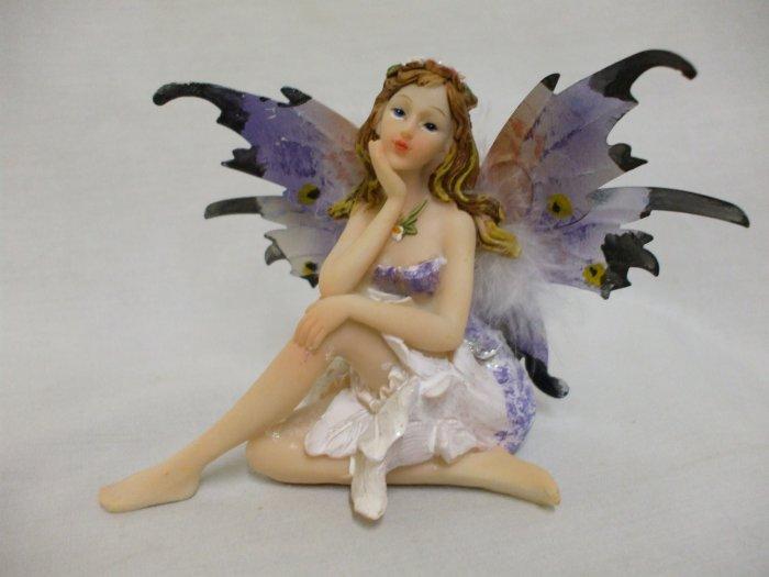 """4"""" Resting Fairy Butterfly: Purple"""