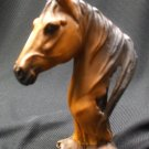 poly resin horse head:brown