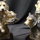 Wolf Pair Sculpture With Base