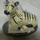 Zebra salt and pepper shaker