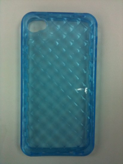 NEW BLUE GEL TPU CASE BUMPER FOR IPHONE 4G
