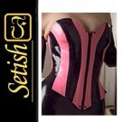 Sexy Costume Latex Rubber Corset  #LSN014
