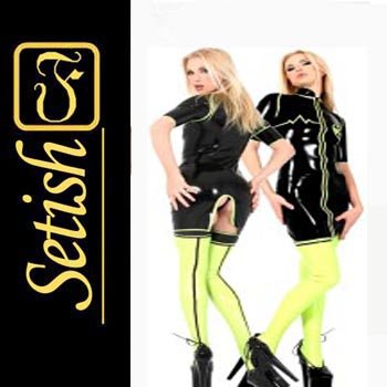 Sexy Costume Latex catsuit Latex Dress (not include pants)  #skn002 hot sale !!