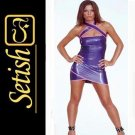 Catsuit Purple Sexy Latex Dress  #skn046