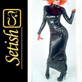 New Rubber Black Skirt  Sexy Latex Dress SYS019