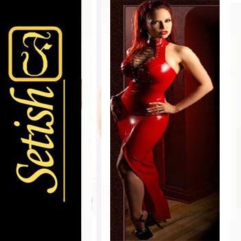Red Sexy Skirt  catsuit Latex dress   #sys031