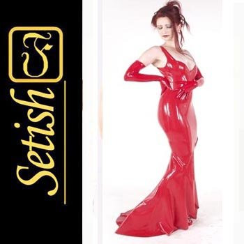 Red Sexy Skirt  catsuit Latex dress   #sys034