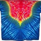 Tie Dye V pattern T-shirt