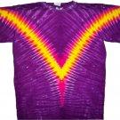 V Pattern Tie Dye T Shirt
