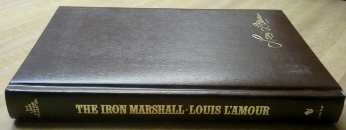 """Louis L'Amour """"The Iron Marshall"""" Leather? EXCELLENT"""