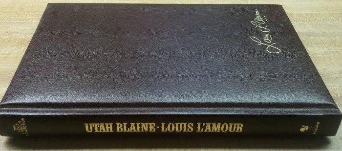 "Louis L'Amour ""Utah Blaine"" Hardcover Leather? EXCELLENT"