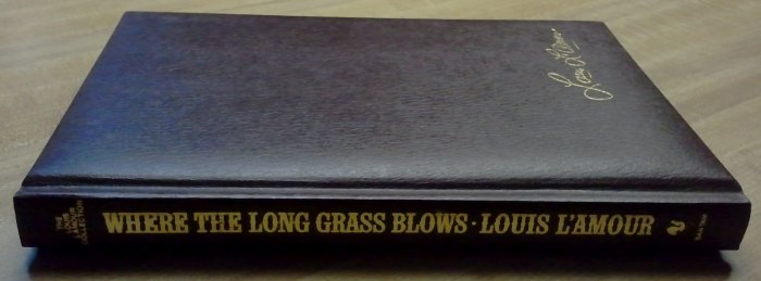 """Louis L'Amour """"Where The Long Grass Blows"""" Leather? EXCELLENT"""