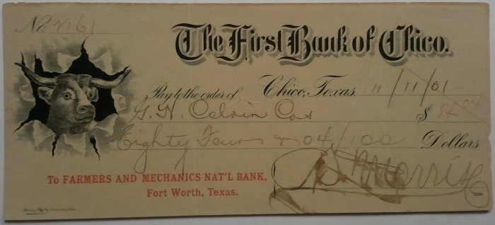 1901 First National Bank of Chico, TX
