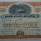 1940 Magma Copper Company stock certificate - 20 shares