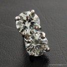 Genuine SI2 I/J 1ct ROUND DIAMOND STUD 14K WG EARRINGS