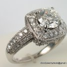 IGI Genuine 1.51ct  Round Diamond Engagement Ring 18KWG